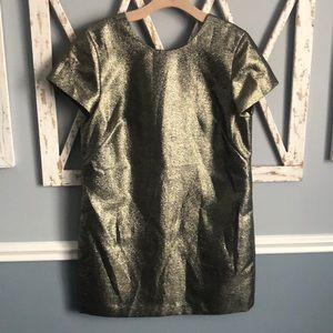 Madewell | Gold Metallic Dress with Pockets